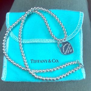 Authentic Tiffany & Co Ster 925 RTT 4mm Necklace